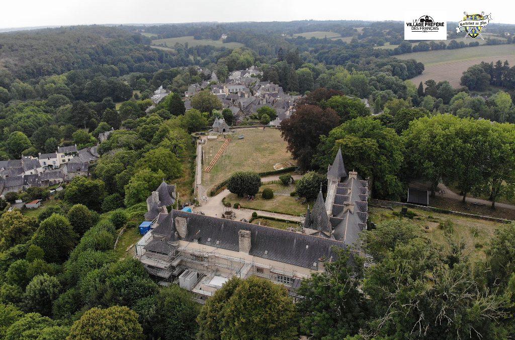 Rochefort en Terre vue du ciel