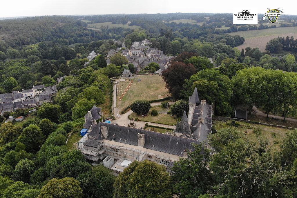 Vue-Aérienne-Rochefort-en-Terre-Médiévales-2018-03